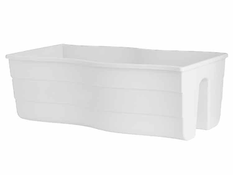 Donica balustradowa FALA 60 Biały
