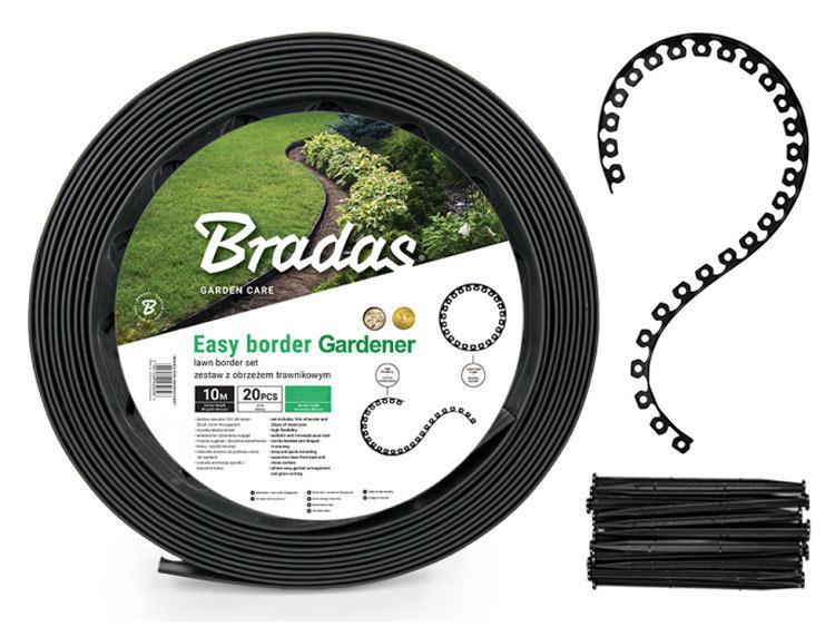 Obrzeże trawnikowe EASY BORDER czarne - ZESTAW