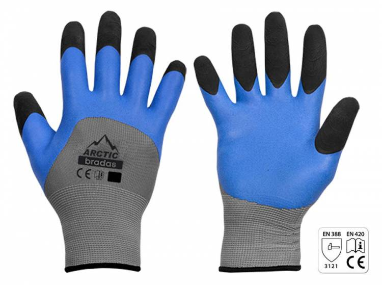 Rękawice ochronne ARCTIC lateks rozm. 9