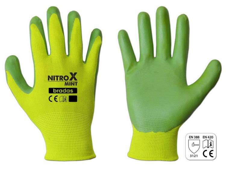 Rękawice ochronne NITROX MINT nitryl