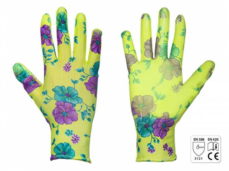 Rękawice ochronne PURE FLOXY poliuretan rozm. 7