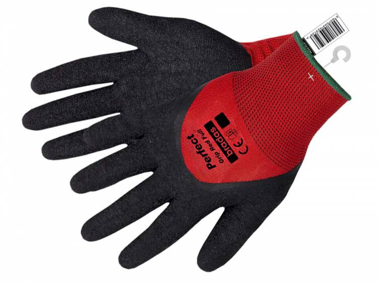Rękawice ochronne PERFECT GRIP RED FULL lateks