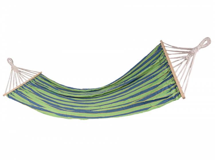 Hamak ogrodowy z płótna z rozpórką 200x120cm