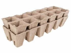 Doniczki paletki do rozsad kwadratowe 2x12 Plantina