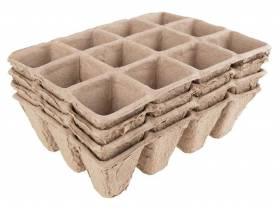 Doniczki paletki do rozsad kwadratowe 4x12 Plantina