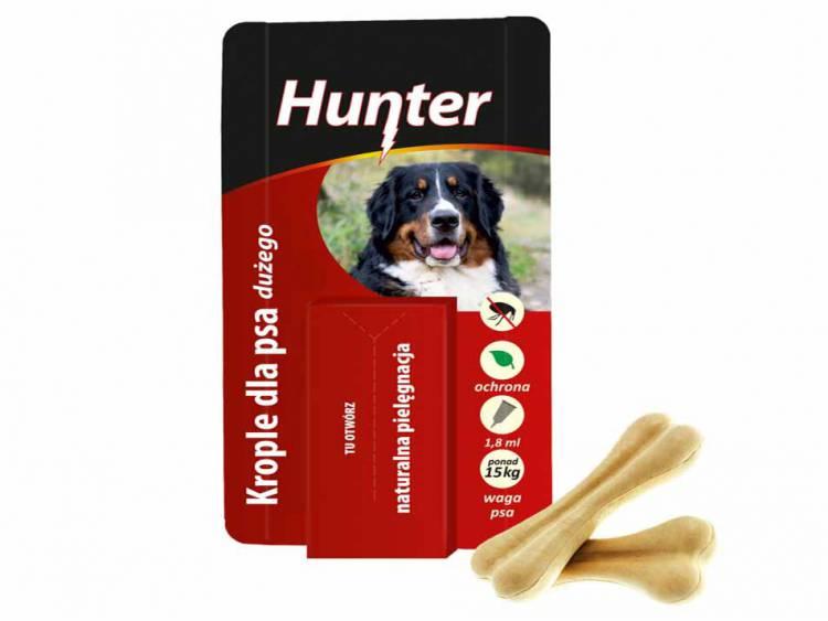 Krople przeciw pchłom dla psa dużego >15kg