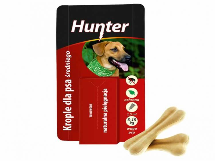 Krople przeciw pchłom dla psa średniego 5-15kg