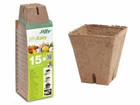 Doniczki torfowe do rozsad kwadratowe 8cm 15szt JIFFY