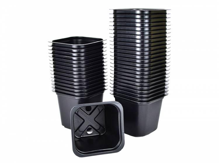 Doniczki kwadratowe 6x6 cm 40 szt. czarne