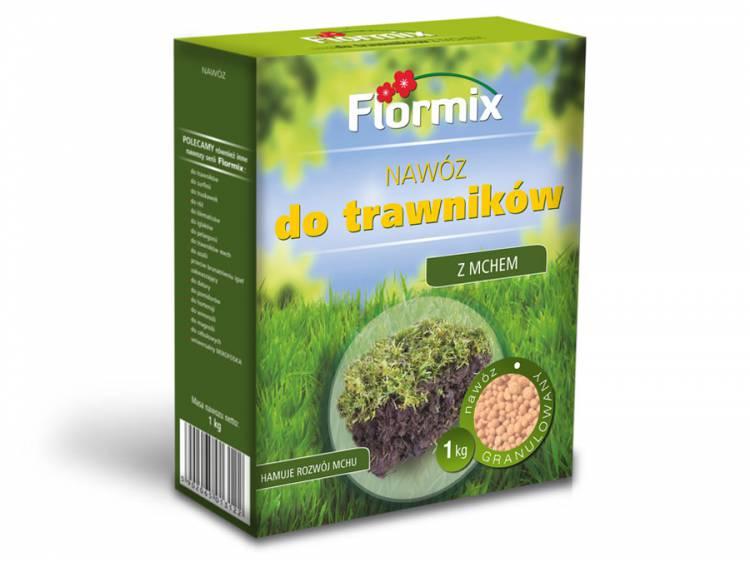 Nawóz do trawników z mchem FLORMIX 1kg karton