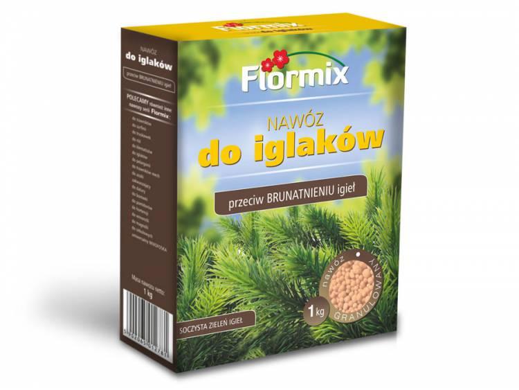 Nawóz do iglaków przeciw brunatnieniu igieł FLORMIX 1kg karton