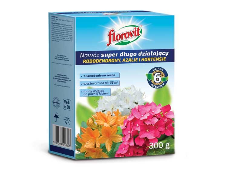 Nawóz długodziałający do azalii, różaneczników, hortensji - FLOROVIT 300g