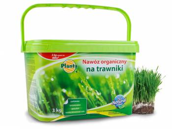 Nawóz do trawników naturalny organiczny PLANTA 3kg