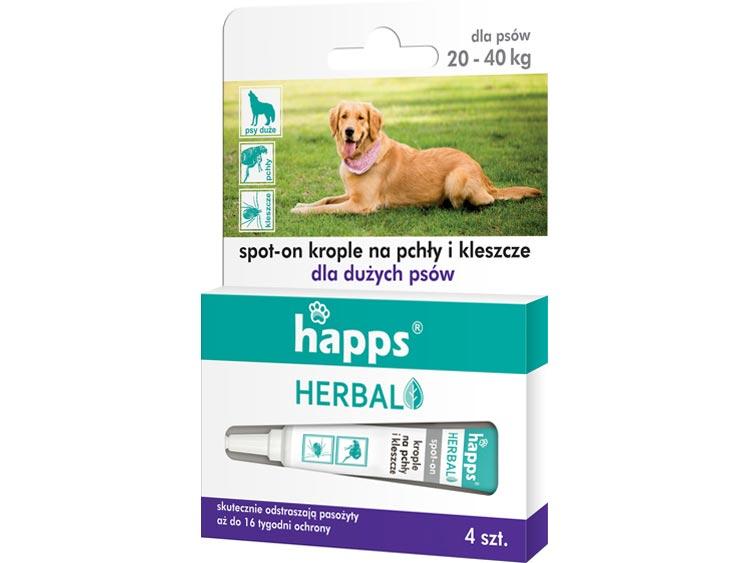Krople na pchły i kleszcze dla psów duzych - HAPPS Herbal